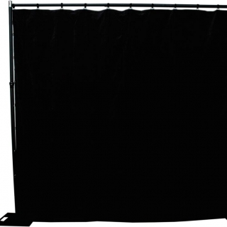 Heavy Cloth Black Drapes 3x3m
