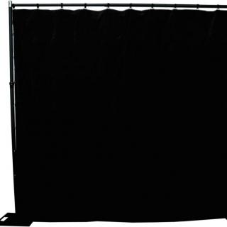 Heavy Cloth Black Drapes 3x3m