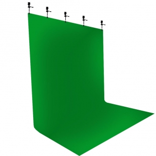 Heavy Cloth Green Screen 4x3m